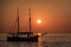 Zadar zmierzch zdjęcia royalty free