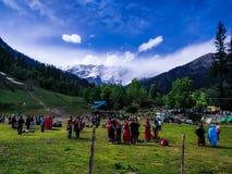 Zadawalać Kashmir ind ikonową scenę zdjęcia royalty free