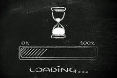 Zadawala czekania hourglass ilustrację z postępu barem Fotografia Royalty Free