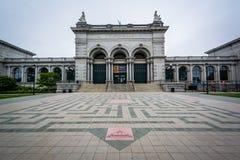 Zadawalaj?cego dotyka muzeum przy Zachodnim Fairmount parkiem w Filadelfia, Pennsylwania fotografia stock