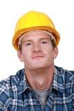 Zadawalający tradesman fotografia stock