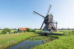 Zadek drenażowy młyn w holandiach Fotografia Stock