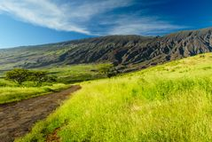 Zadek Haleakala krater zdjęcia royalty free