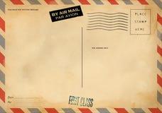 Zadek pusta poczt?wka obrazy royalty free