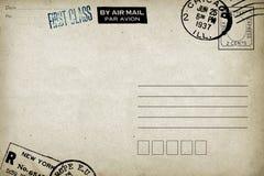 Zadek pusta poczt?wka obraz stock