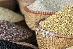 Zaden in een markt Stock Afbeeldingen