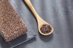 Zaden en graangewassenbar van zwarte quinoa - Chenopodium - quinoa Stock Afbeelding