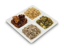Zaden en noten Stock Afbeelding