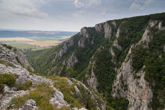Zadielska valley, Slovakia. Zadielska karst valley, protected site, Slovakia Stock Images