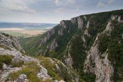 Zadielskavallei, Slowakije Stock Afbeeldingen