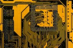 Zadka koloru żółtego płyta główna zdjęcie royalty free