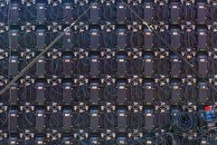 Zadka tylni widok Duży Parawanowy pokaz PROWADZĄCY monitorów panel Obraz Royalty Free