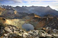 Zadni Staw Polski in  Valley Of The Five Lakes. Tatras Stock Photo