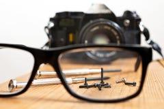 Zadośćuczynienie stara kamera Fotografia Stock
