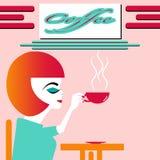 Zadowalająca filiżanka kawy Obraz Royalty Free