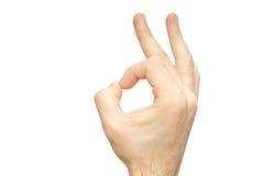 Zadowalający nadgarstek odizolowywający komunikacja znak obrazy royalty free