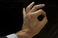 Zadowalający ręka gest Obrazy Royalty Free
