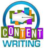 Zadowolonego Writing okręgu Kolorowi lampasy Obrazy Royalty Free