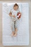 Zadowolony ładny dziecko ma ładnego sen Zdjęcie Stock