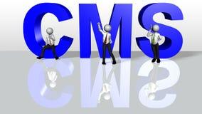zadowolony Cms system zarządzania ilustracja wektor