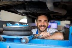 Zadowolony męski mechanik Obrazy Stock