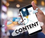 ZADOWOLONYCH marketingowych dane publikaci Blogging Medialna informacja Vi Fotografia Royalty Free
