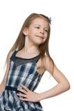 Zadumana ładna mała dziewczynka obrazy royalty free