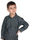 Zadumana mądra młoda chłopiec Obraz Royalty Free