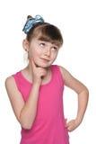 Zadumana mała dziewczynka zdjęcia royalty free