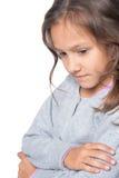 Zadumana mała dziewczynka Fotografia Stock