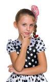 Zadumana mody młoda dziewczyna zdjęcia royalty free