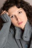 Zadumana piękna kobieta Zdjęcie Royalty Free