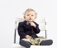 Zadumany biznesowy dziecko Zdjęcia Stock