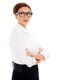 Zadumany bizneswoman patrzeje upwards Obraz Royalty Free