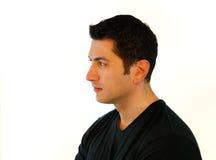 zadumany mężczyzna profil Obrazy Stock