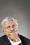 Zadumany portret starszy mężczyzna Obraz Stock