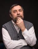 Zadumany starsza osoba mężczyzna Fotografia Stock