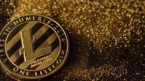 Zadziwiać Litecoin Spada puszek na Błyskać Złotego piasek Makro- zbiory