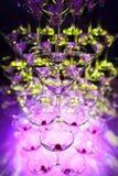 Zadziwiać Martini szkieł ostrosłup dla alkoholu; Obraz Stock