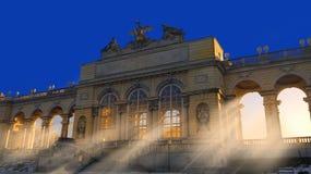 Zadziwiać ocienia z surrealistycznym światła słonecznego przybyciem przez grodowych okno obrazy royalty free