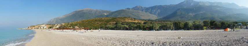 Zadziwiać plaże Dhermi, Albania Obraz Stock