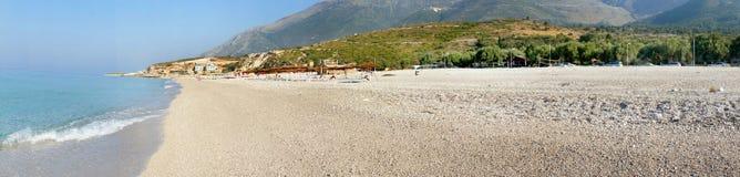 Zadziwiać plaże Dhermi, Albania Obrazy Royalty Free