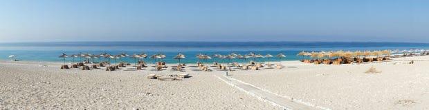 Zadziwiać plaże Dhermi, Albania Zdjęcie Stock