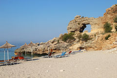 Zadziwiać plaże Dhermi, Albania Fotografia Stock