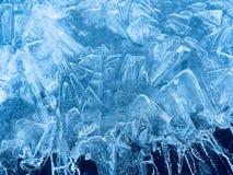 Zadziwiać wzory na lodzie fotografia stock