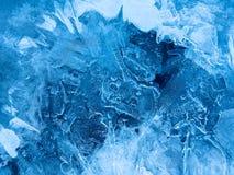 Zadziwiać wzory na lodzie obraz stock