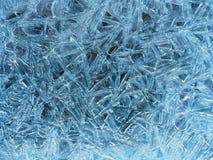 Zadziwiać wzory na lodzie obraz royalty free