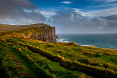 Zadziwiać Latrabjarg w Iceland Obraz Stock