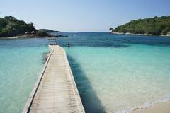 Zadziwiać plaże Ksamil, Albania Zdjęcia Stock