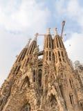 Zadziwiać Sagrada Familia w Barcelona Zdjęcia Royalty Free